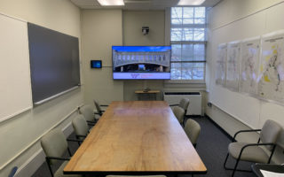 view of classroom in the architecture annex room 107
